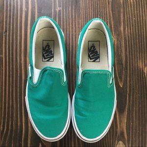 Vans Green Slip Ons 6